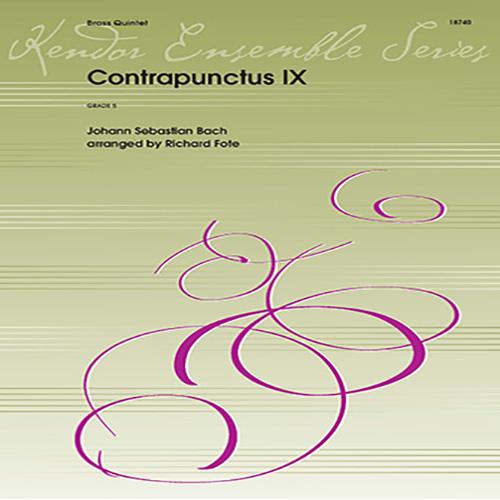 J.S. Bach, Contrapunctus IX (arr. Richard Fote) - Tuba, Brass Ensemble