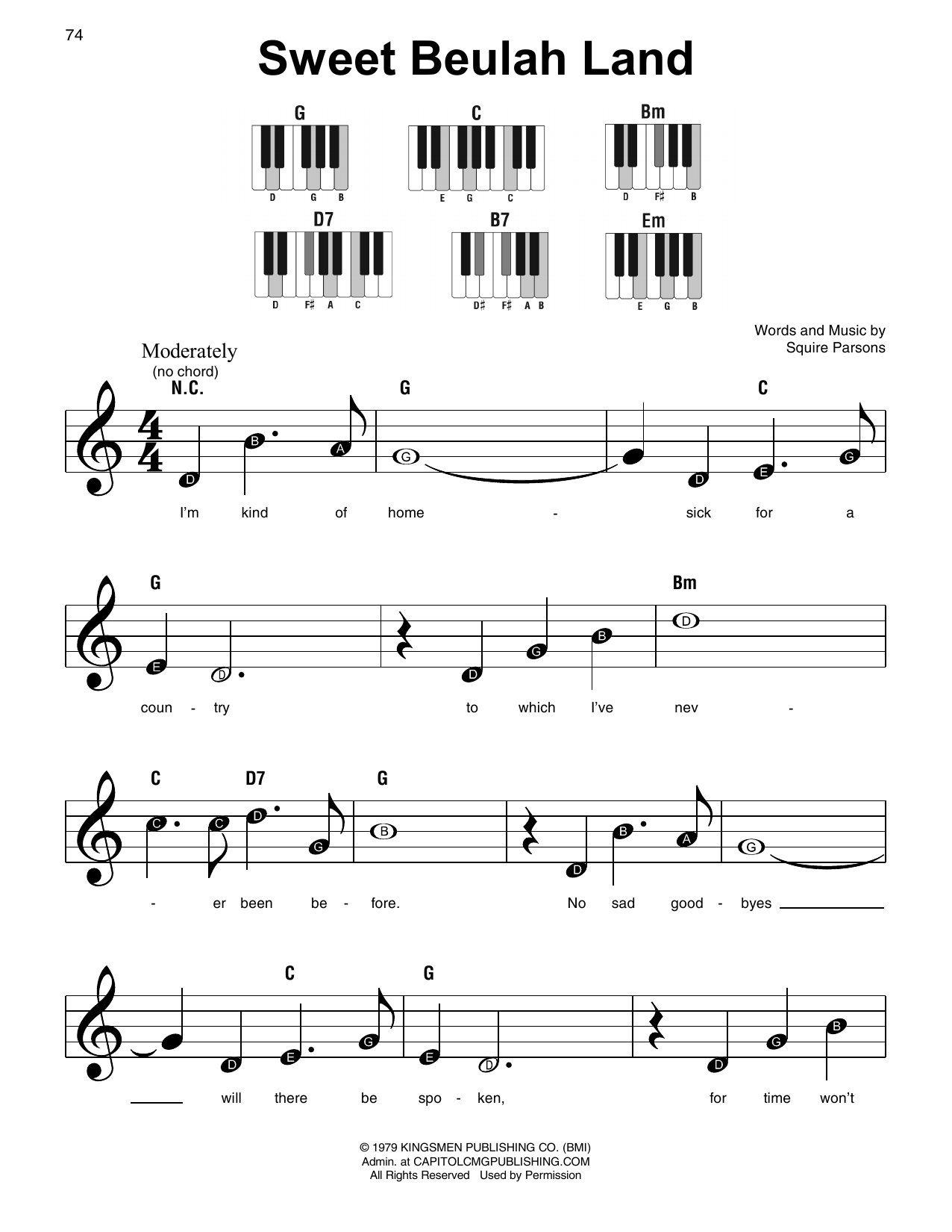 picture regarding Free Printable Gospel Sheet Music for Piano named Squire Parsons Cute Beulah Land Sheet Audio Notes, Chords Obtain Printable Tremendous Uncomplicated Piano - SKU: 409552