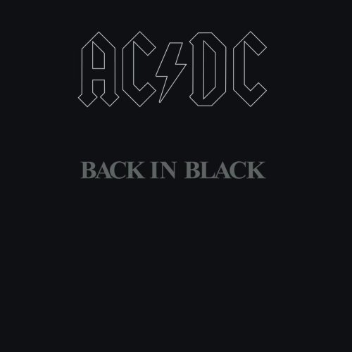 AC/DC, Back In Black, Piano, Vocal & Guitar
