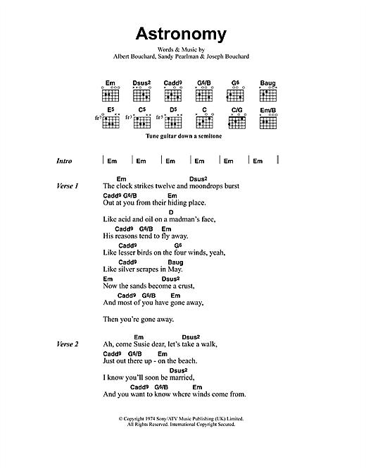 Metallica Astronomy Sheet Music Notes Chords Printable Metal