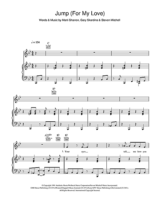 Girls Aloud Jump For My Love Sheet Music Notes Chords
