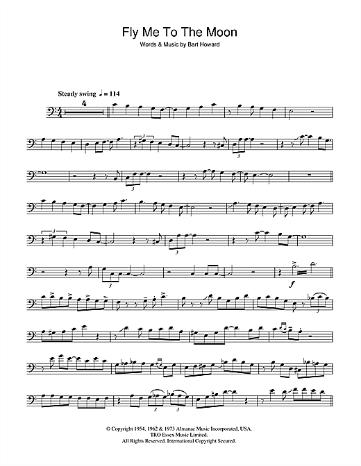 Julie London Fly Me To The Moon In Other Words Sheet Music Notes