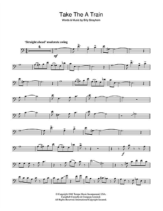 photo about Free Printable Trombone Sheet Music identify Duke Ellington Acquire The A Prepare Sheet Songs Notes, Chords Obtain Printable Piano, Vocal Guitar (Straight-Hand Melody) - SKU: 46975