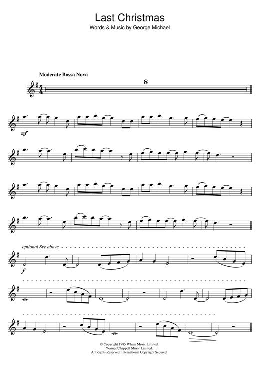 Wham! 'Last Christmas' Sheet Music Notes, Chords | Download Printable Tenor  Sax Solo - SKU: 48480