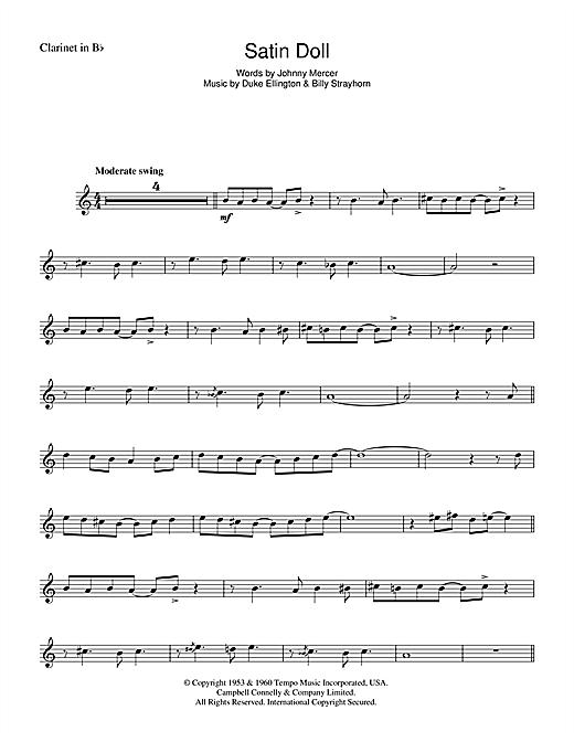 Duke Ellington Satin Doll Sheet Music Notes Chords Printable