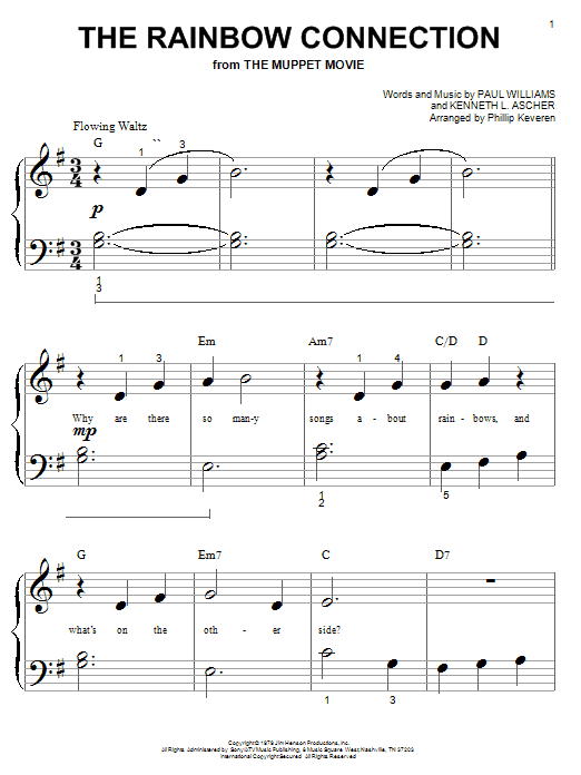 Kermit The Frog The Rainbow Connection Sheet Music Notes Chords
