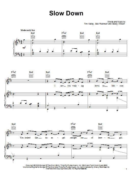 Bobby Valentino 'Slow Down' Sheet Music Notes, Chords | Download Printable  Piano, Vocal & Guitar (Right-Hand Melody) - SKU: 51602