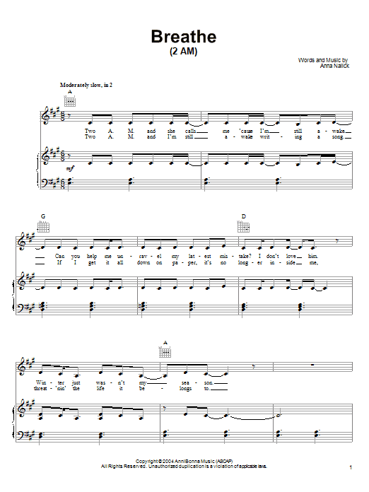 Funky Breathe 2 Am Chords Adornment - Song Chords Images - apa ...