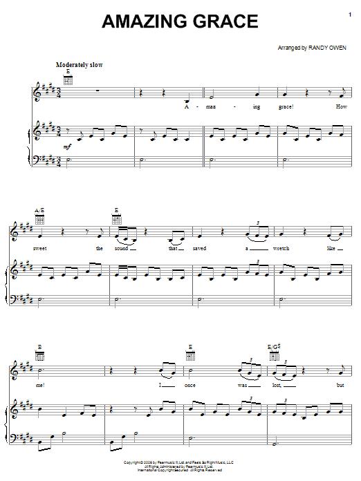Alabama Amazing Grace Sheet Music Notes Chords Printable Folk