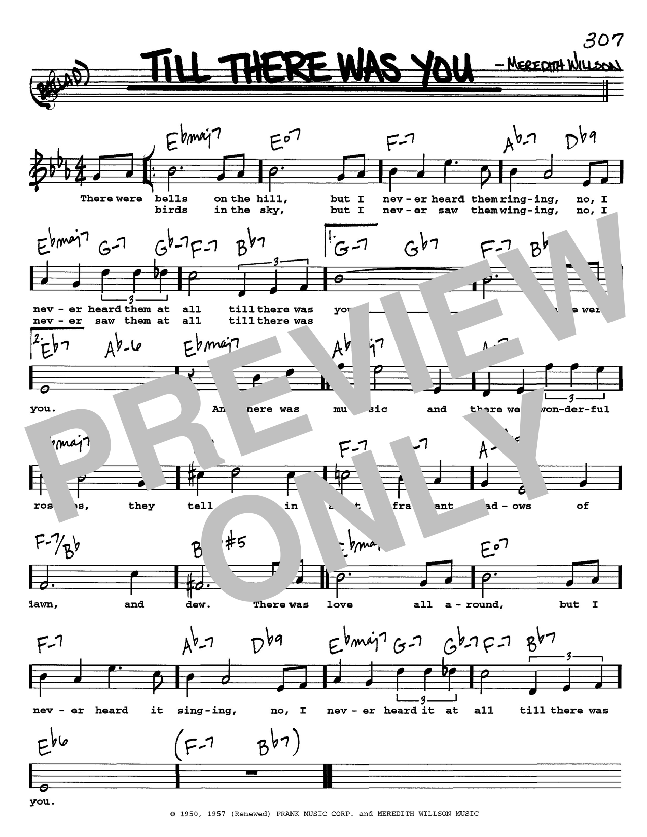The Beatles Till There Was You Sheet Music Notes Chords