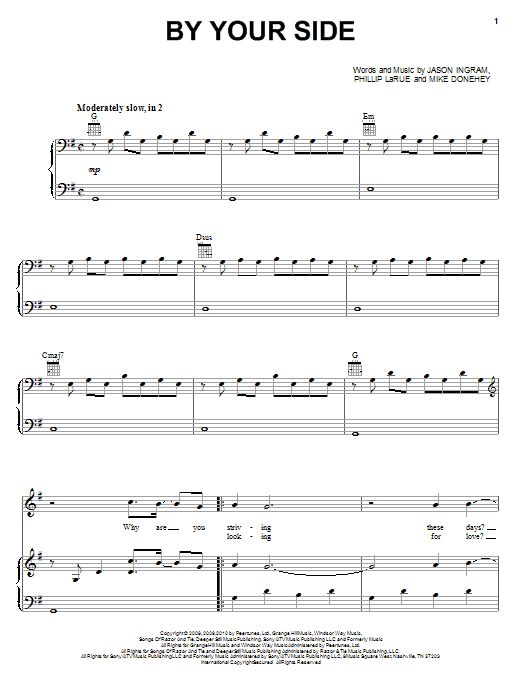 Tenth Avenue North By Your Side Sheet Music Notes Chords
