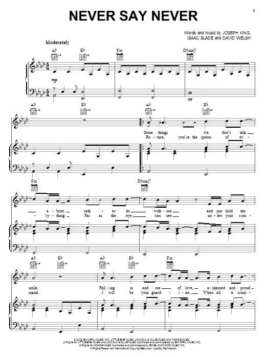 Unique Never Say Never Piano Chords Pictures Beginner Guitar Piano