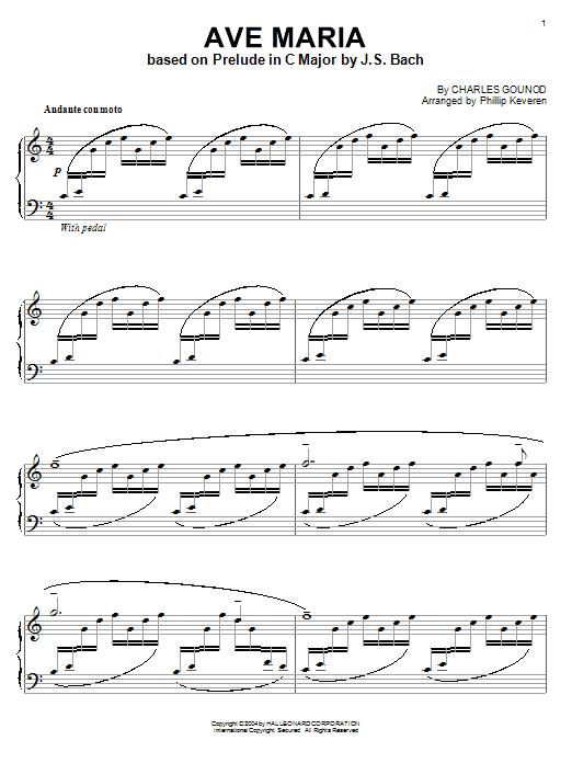 Charles Gounod Ave Maria Sheet Music Notes Chords Printable Pop