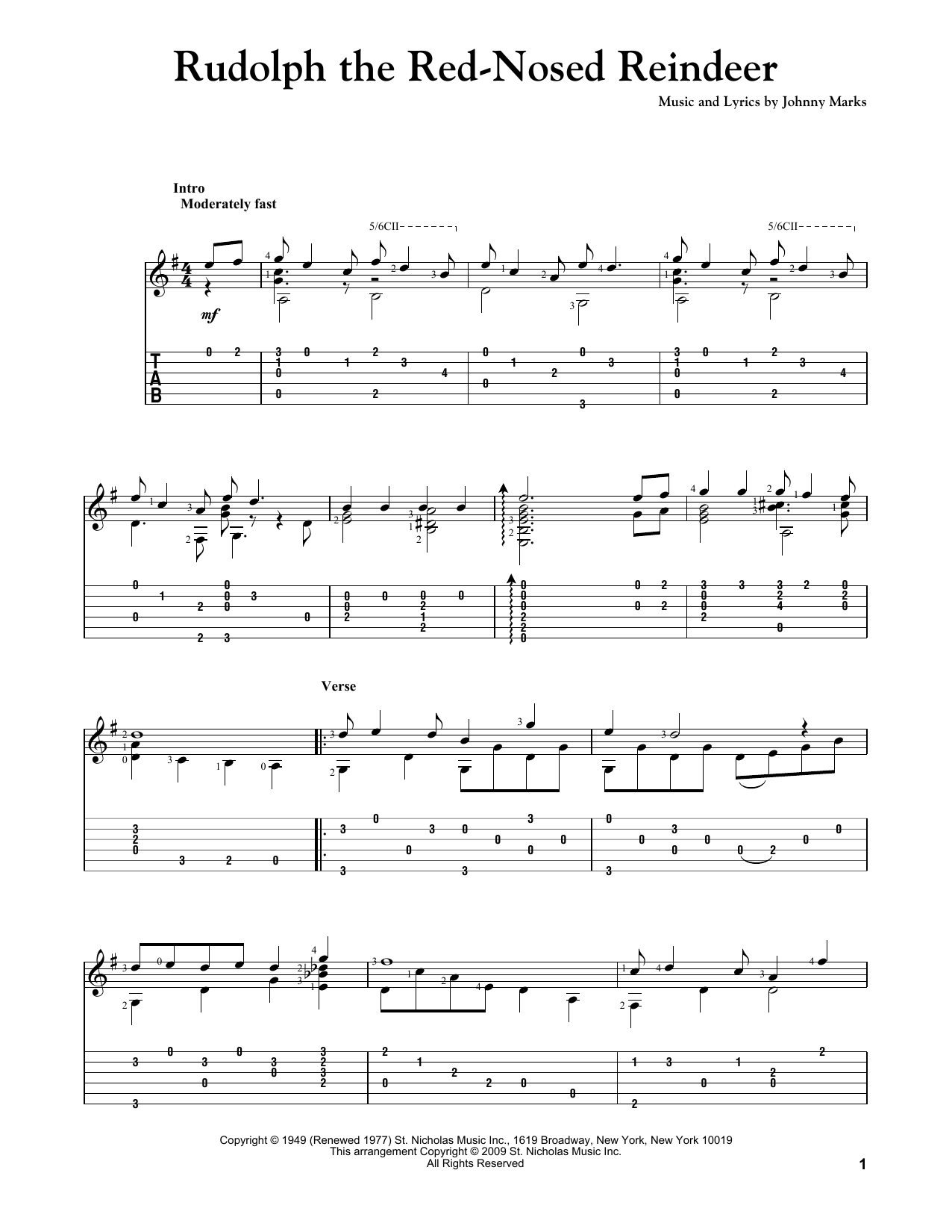 picture relating to Rudolph the Red Nosed Reindeer Lyrics Printable known as Johnny Marks Rudolph The Pink-Nosed Reindeer Sheet Songs Notes, Chords  Obtain Printable Guitar Tab - SKU: 83169