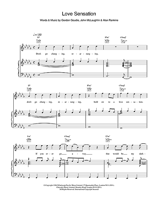 911 Love Sensation sheet music notes and chords