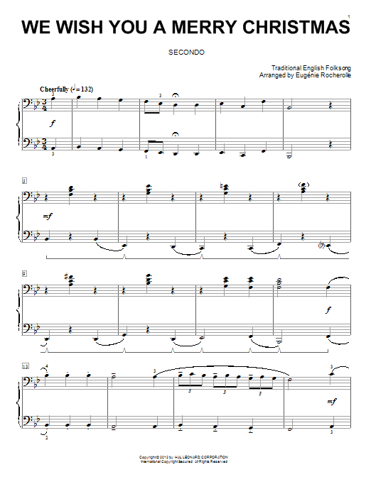 Wish You Merry Christmas Piano Notes.Traditional English Folksong We Wish You A Merry Christmas Sheet Music Notes Chords Download Printable Piano Duet Sku 92256