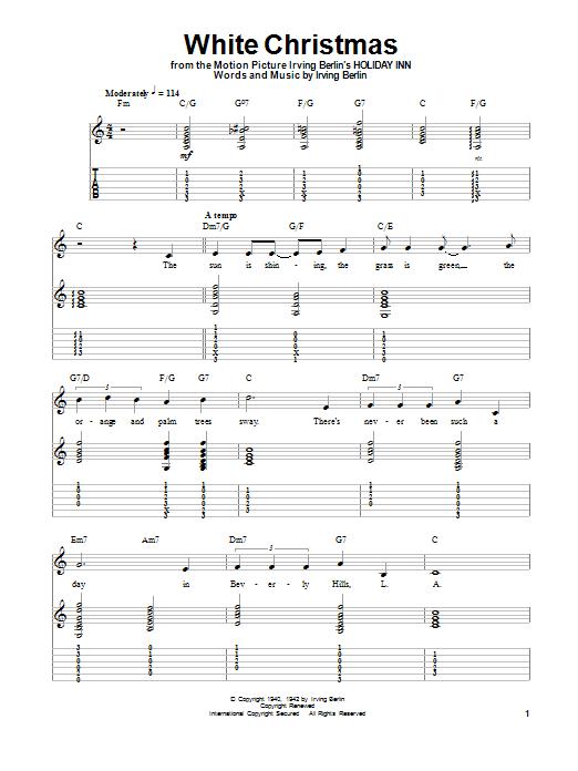 Irving Berlin White Christmas Sheet Music Notes Chords
