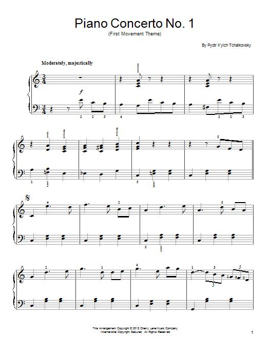 Pyotr Ilyich Tchaikovsky Piano Concerto No 1 In B Flat Minor Op