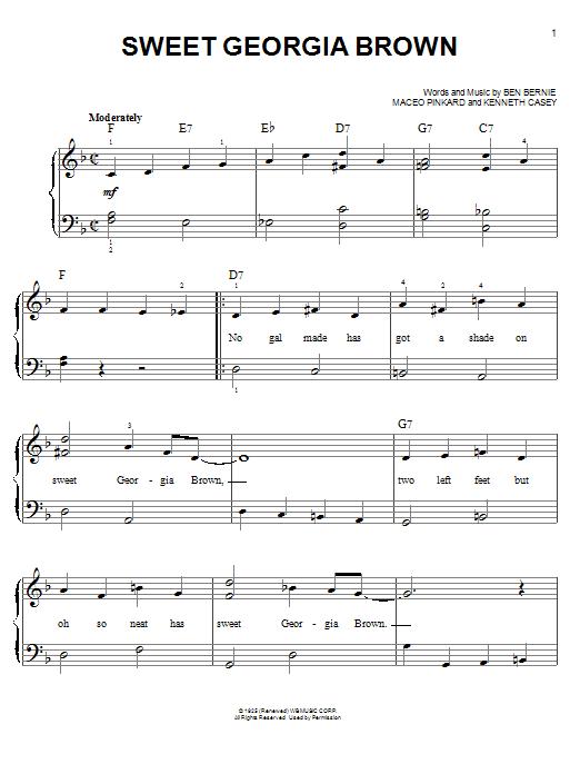 Count Basie Sweet Georgia Brown Sheet Music Notes Chords