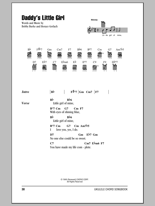 Magnificent My Little Girl Chords Ornament - Song Chords Images ...