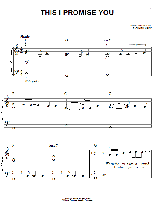 'N Sync This I Promise You sheet music notes and chords. Download Printable PDF.