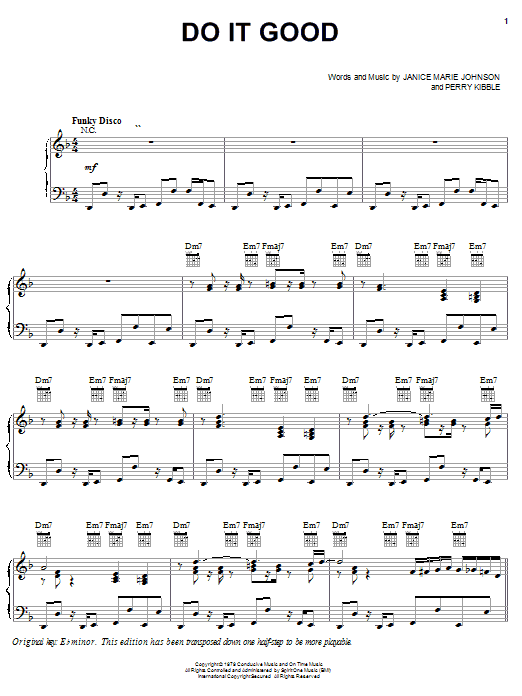 A Taste Of Honey Do It Good sheet music notes and chords