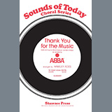 Download ABBA 'Thank You For The Music (arr. Hawley Ades)' Printable PDF 7-page score for Broadway / arranged SATB Choir SKU: 445257.