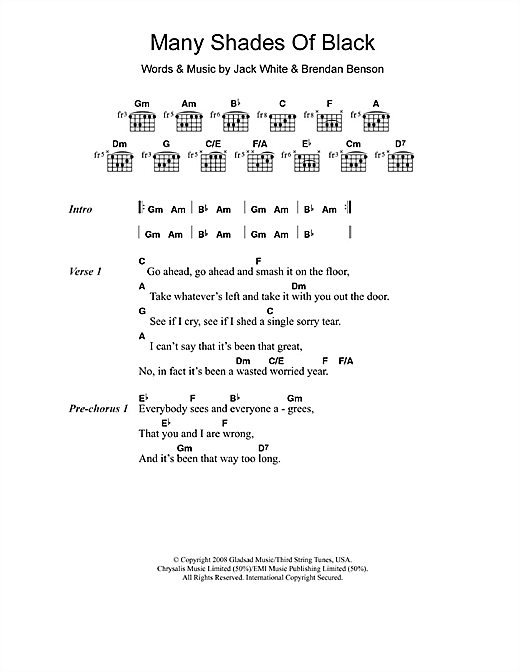 Adele Many Shades Of Black sheet music notes and chords. Download Printable PDF.