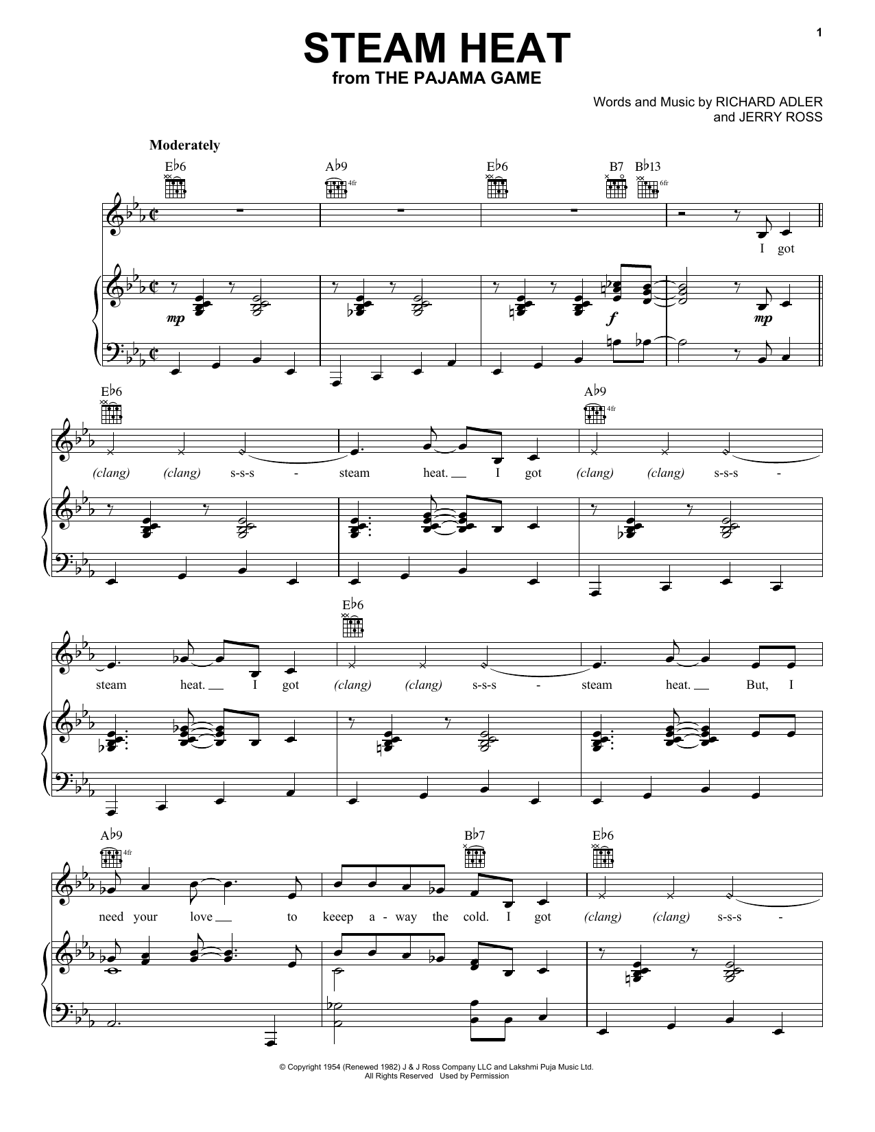 Adler & Ross Steam Heat sheet music notes and chords. Download Printable PDF.