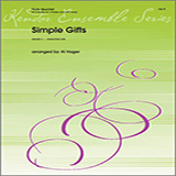 Download Al Hager 'Simple Gifts - Alto Flute' Printable PDF 2-page score for Classical / arranged Woodwind Ensemble SKU: 325685.