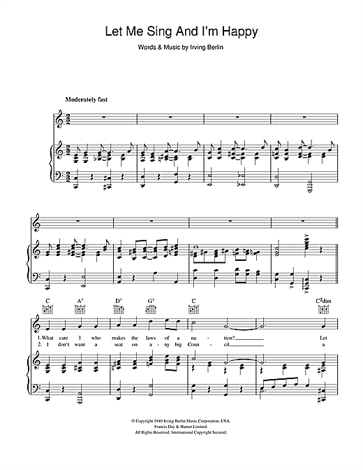 Al Jolson Let Me Sing And I'm Happy sheet music notes and chords. Download Printable PDF.