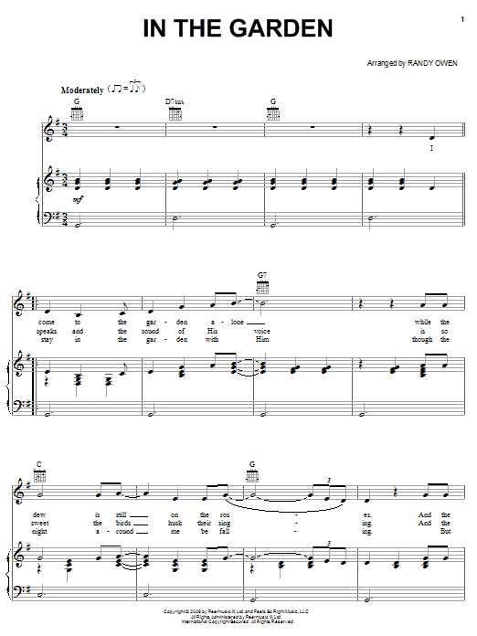 Alabama In The Garden sheet music notes and chords