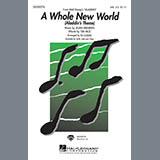 Download or print Alan Menken A Whole New World (Aladdin's Theme) (from Disney's Aladdin) (arr. Ed Lojeski) Sheet Music Printable PDF 11-page score for Disney / arranged 2-Part Choir SKU: 423120.