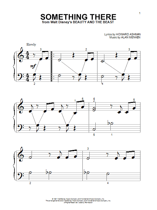Alan Menken Something There (from Beauty And The Beast) sheet music notes and chords. Download Printable PDF.