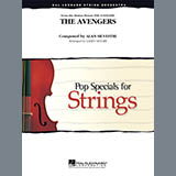 Download or print Larry Moore The Avengers (Main Theme) - Bass Sheet Music Printable PDF 1-page score for Film/TV / arranged Orchestra SKU: 310104.