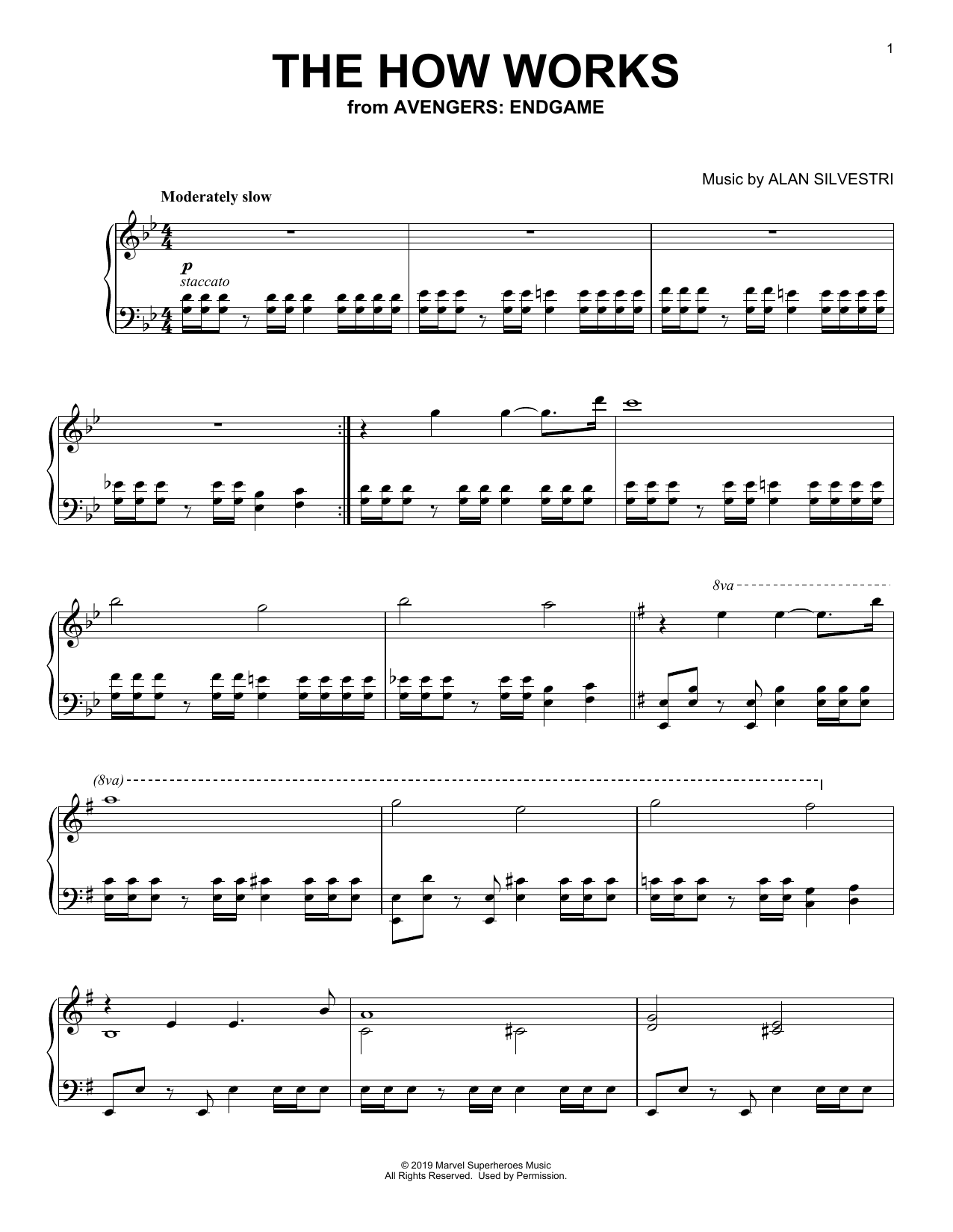 Alan Silvestri The How Works (from Avengers: Endgame) sheet music notes and chords