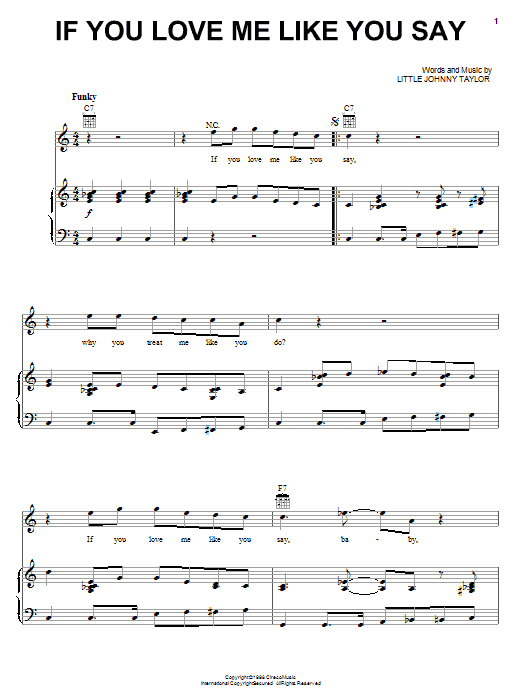 Albert Collins If You Love Me Like You Say sheet music notes and chords. Download Printable PDF.
