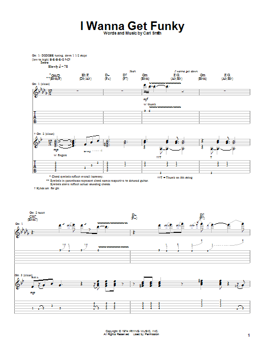 Albert King I Wanna Get Funky sheet music notes and chords. Download Printable PDF.