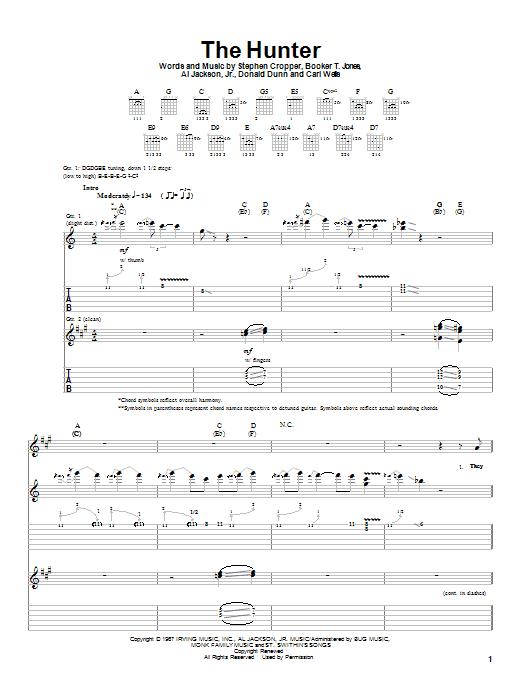 Albert King The Hunter sheet music notes and chords. Download Printable PDF.