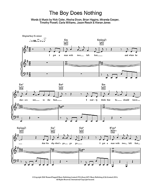 Alesha Dixon The Boy Does Nothing sheet music notes and chords. Download Printable PDF.