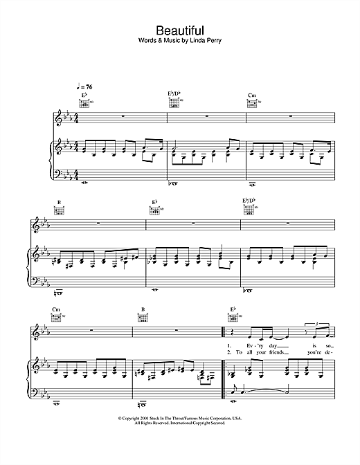 Alex Parks Beautiful sheet music notes and chords