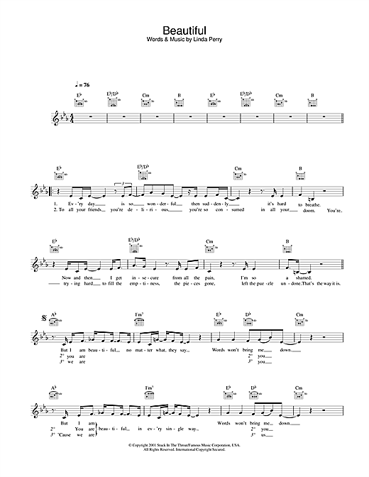 Alex Parks Beautiful sheet music notes and chords. Download Printable PDF.