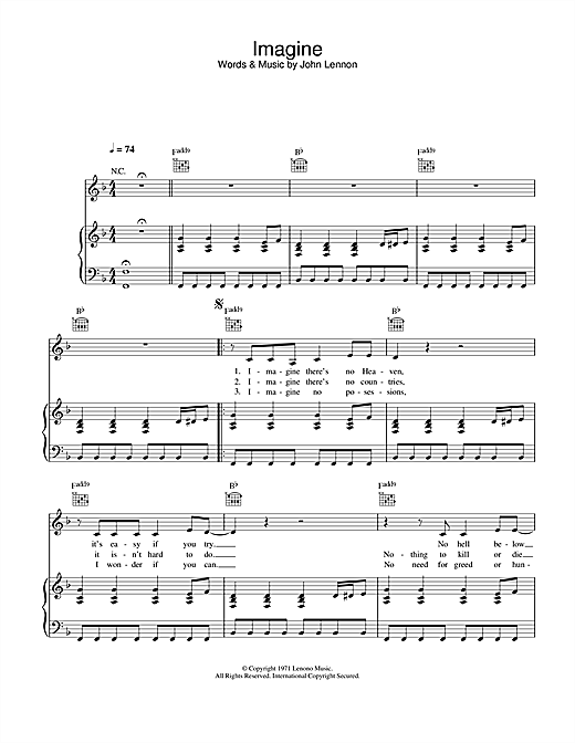 Alex Parks Imagine sheet music notes and chords