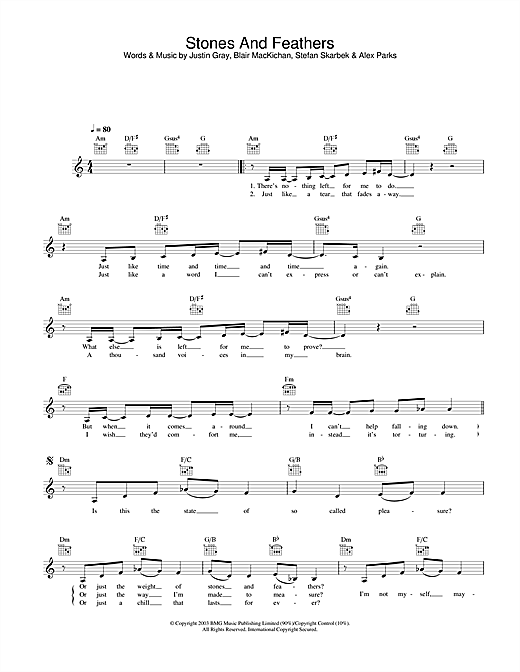 Alex Parks Stones And Feathers sheet music notes and chords. Download Printable PDF.