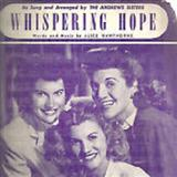 Download or print Alice Hawthorne Whispering Hope Sheet Music Printable PDF 3-page score for Folk / arranged Accordion SKU: 81294.