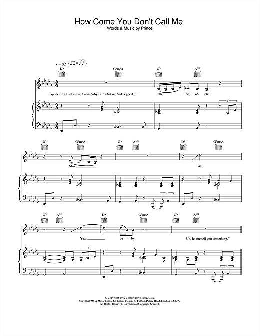 Alicia Keys How Come You Don't Call Me sheet music notes and chords. Download Printable PDF.