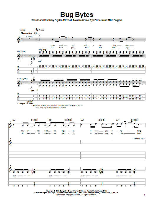 Alien Ant Farm Bug Bytes sheet music notes and chords