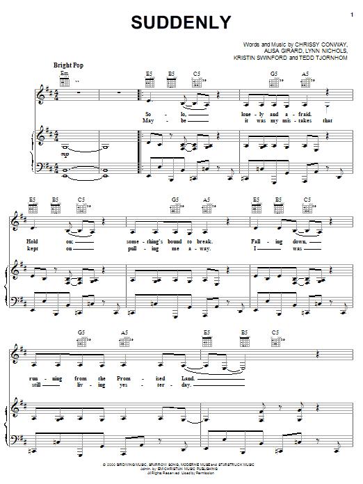 Alisa Girard Suddenly sheet music notes and chords