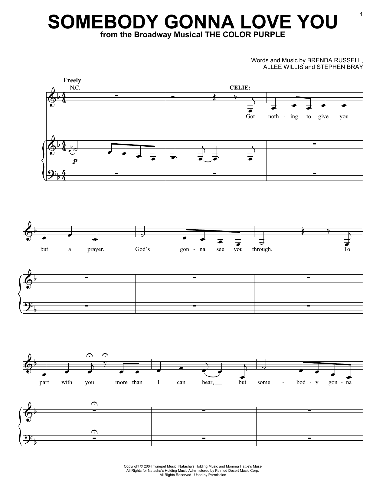 Allee Willis Somebody Gonna Love You sheet music notes and chords. Download Printable PDF.