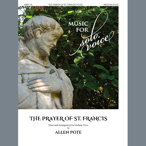 Allen Pote, Prayer of St. Francis (Medium Voice), Piano & Vocal